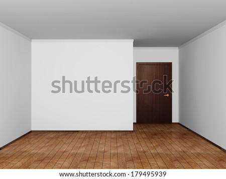 Modern Empty Room Interior - stock photo