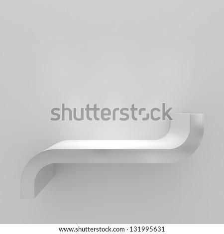 Modern Empty Shelf - 3d illustration - stock photo