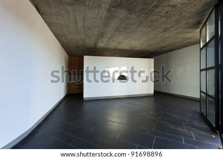 modern empty villa, large room