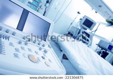 modern equipment in the hospital - stock photo