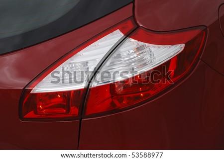 modern european car tail lights - stock photo