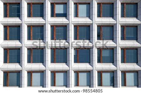 Modern European office building wall texture - stock photo