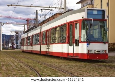 Modern European tramway - stock photo