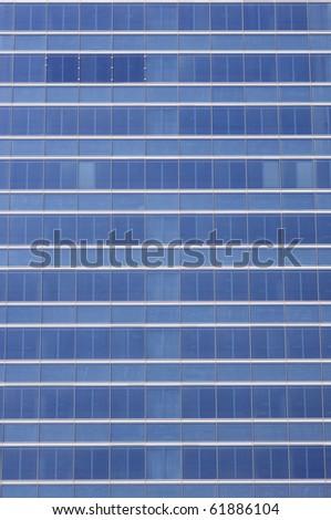 modern facade detail in Madrid, Spain - stock photo