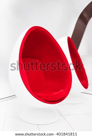 Modern fantastic relaxation capsule seat - stock photo
