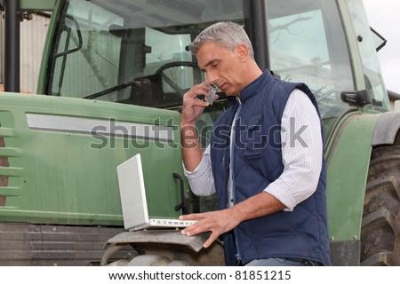modern farmer - stock photo