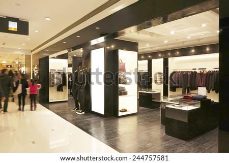modern fashion shop storefront and showcase                 - stock photo