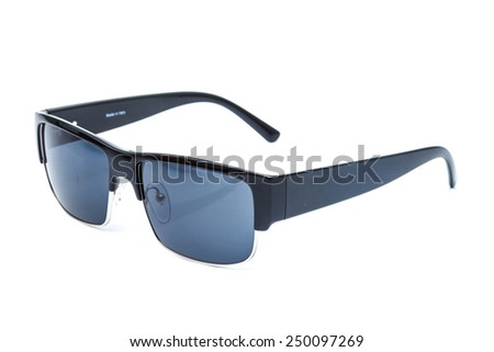 Modern fashion Sunglasses against a white background