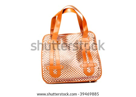 Modern female bag on a white background