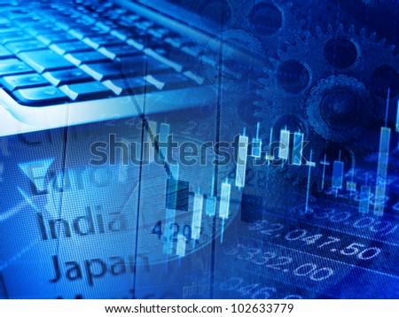 Modern finance system background. - stock photo