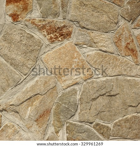 Modern Flagstone Mosaic Tiled Texture Ornamental Background - stock photo