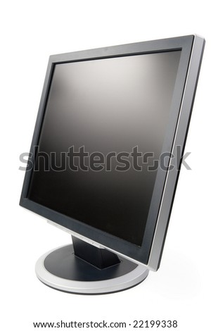 Modern flat screen LCD monitor on a white background.