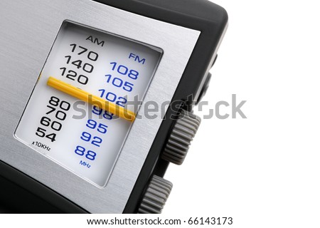 Modern FM, AM radio dials and tuner - stock photo