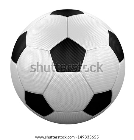 modern football with special fiber - stock photo