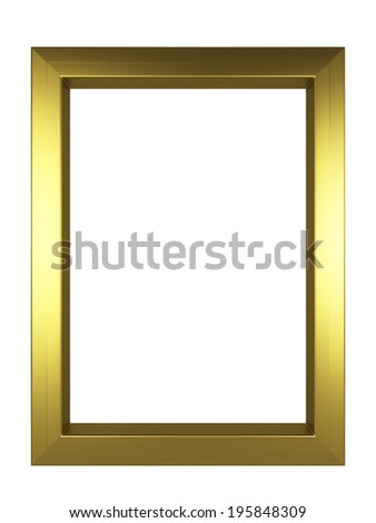 Modern frame. 3d illustration isolated on white background  - stock photo