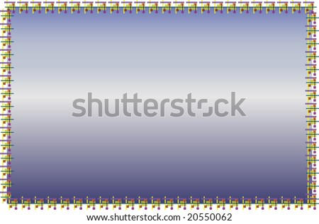 Modern frame for sky or sea scapes - stock photo