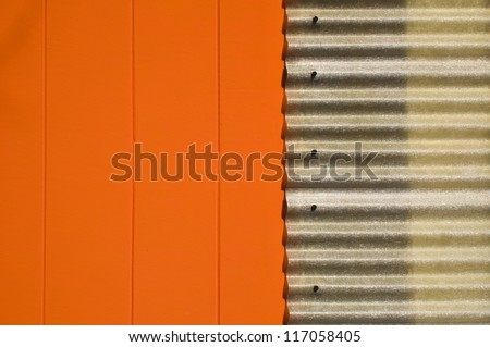 modern front of warehouse - stock photo