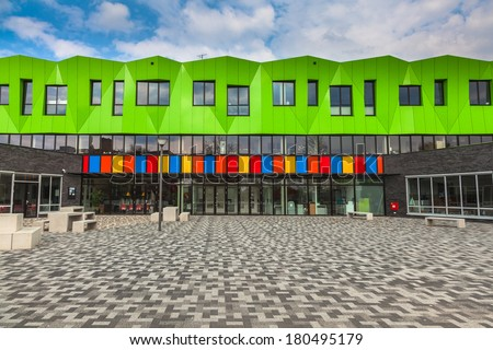 Modern Futuristic Educational Facility in the Netherlands Europe - stock photo