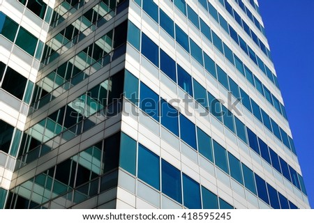 Modern futuristic skyscraper in London England, UK - stock photo