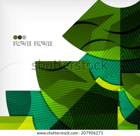 Modern futuristic techno abstract composition, overlapping shapes - stock photo