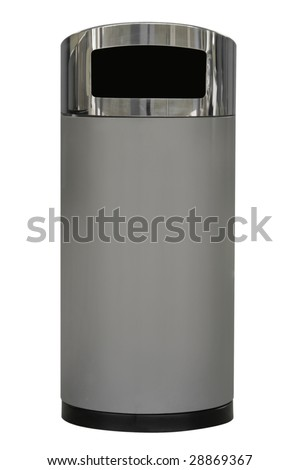 modern garbage can - stock photo