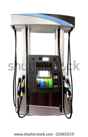 Modern gas pump isolated included clipping path - stock photo