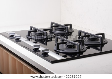 modern gas stoves. Modern Gas Stove In Luxurious Kitchen Stoves