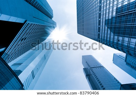 modern glass building in china - stock photo