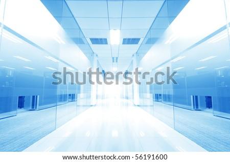 modern glass Corridor - stock photo