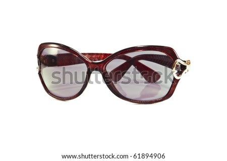 modern glasses isolated on white - stock photo