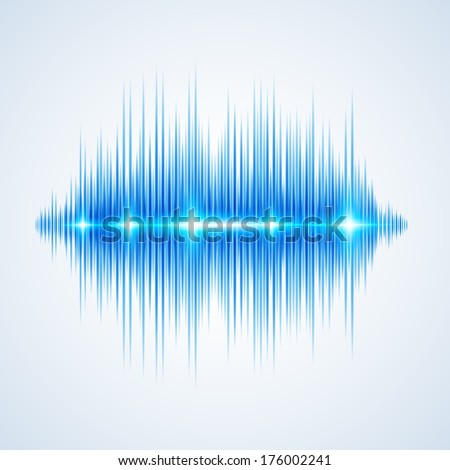 Modern glowing equalizer. Background for music themes - stock photo