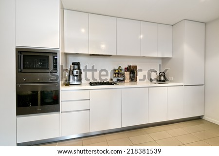 Modern gourmet kitchen interior - stock photo