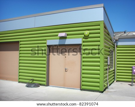 Metal building stock images royalty free images vectors for Modern metal building