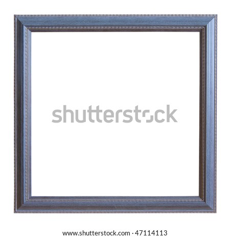Modern grey picture frame, isolated with clipping path - stock photo
