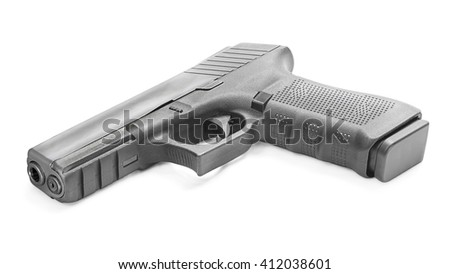 Modern gun - stock photo