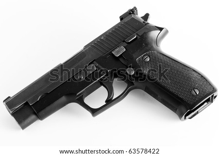 Modern Gun - stock photo