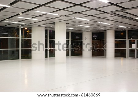 modern hall - stock photo
