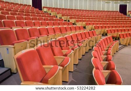 Modern hall for presentation - stock photo