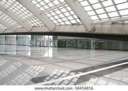 modern hall in beijing T3 airport with big windows