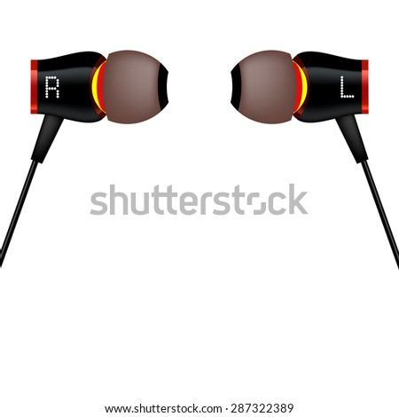 Modern Headphones Icon Isolated on White Background