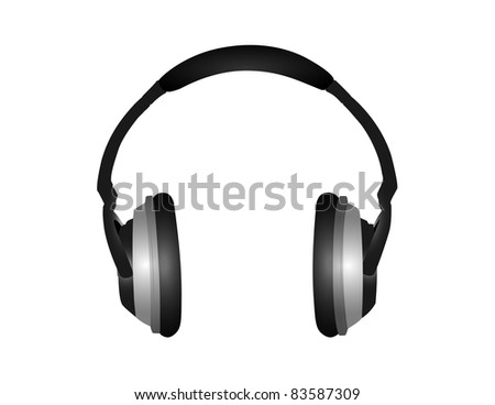 Modern Headphones Illustration - High Resolution JPEG Version (vector version also available). - stock photo