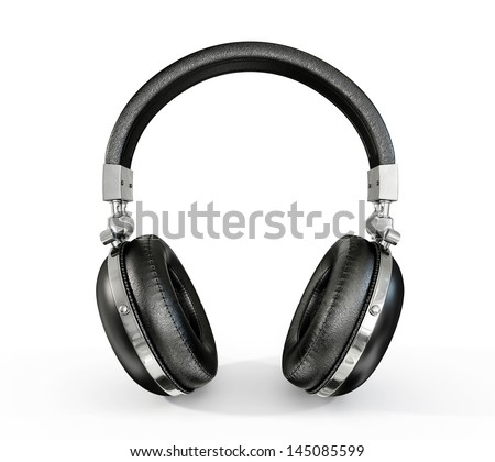 modern headphones isolated on a white background