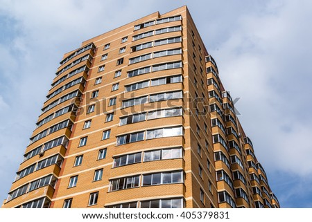 new block modern apartments balconies blue stock photo 297096893 shutterstock. Black Bedroom Furniture Sets. Home Design Ideas