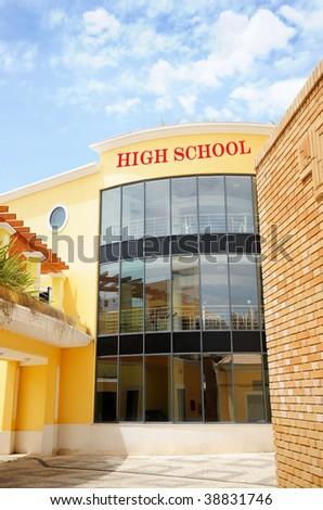 Modern High School building - stock photo