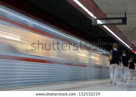 Modern high speed metro - stock photo