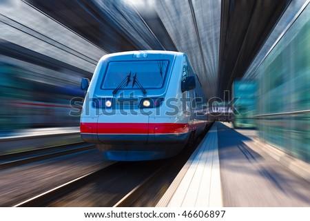 Modern high speed train - stock photo