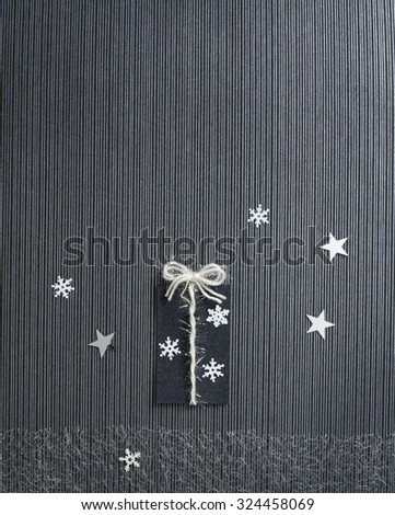 Modern Holiday Present Card - stock photo