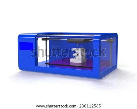 Modern Home 3d printer - stock photo