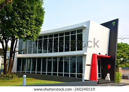 Modern home exterior  - stock photo