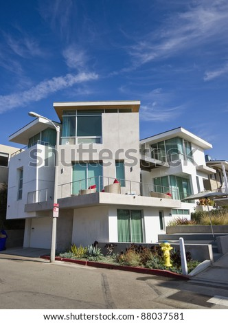 Modern Home Exterior - stock photo